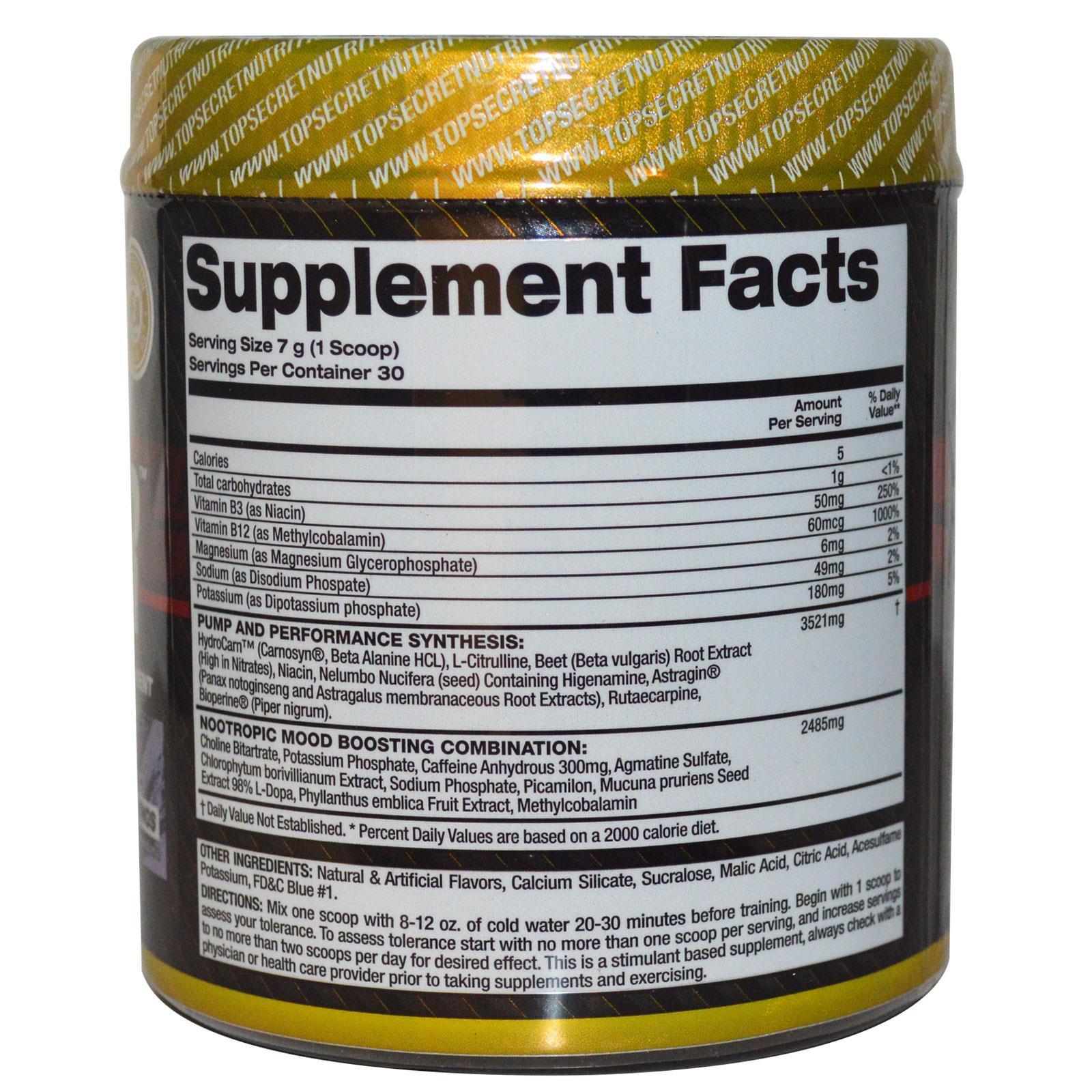 Pump Igniter Supplement Facts